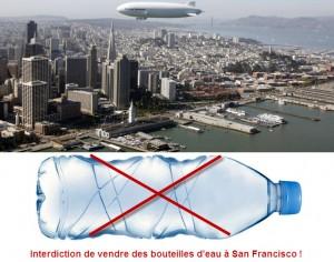 Bouteilles d'eau en plastique interdites à San Francisco